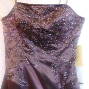 Precious formals evening beaded dress size 4